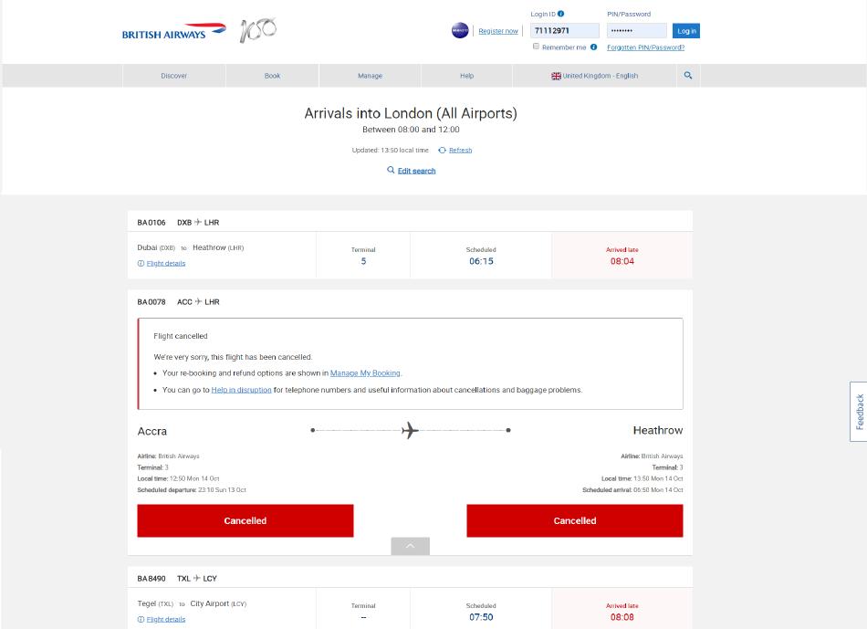Flight Disruption project 4